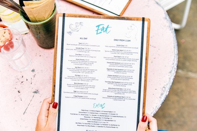 Projektowanie Menu dla Restauracji